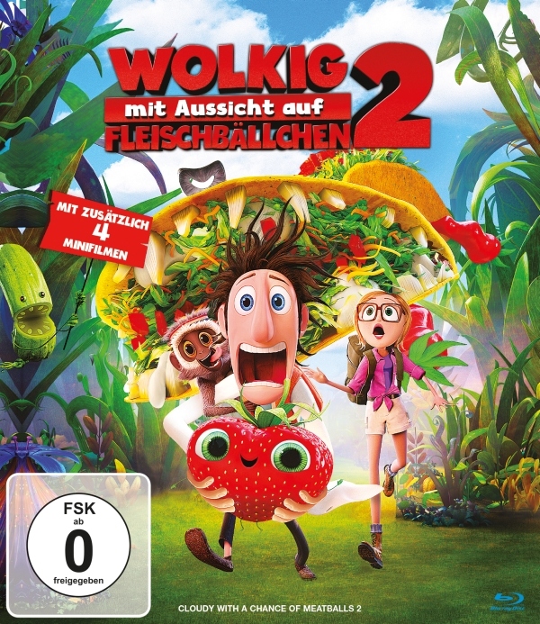 Wolkig mit Aussicht auf Fleischbällchen 2 (Animationsfilm, DVD/Blu-Ray)