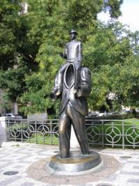 Bronzestatue Franz Kafka von Jaroslav Róna