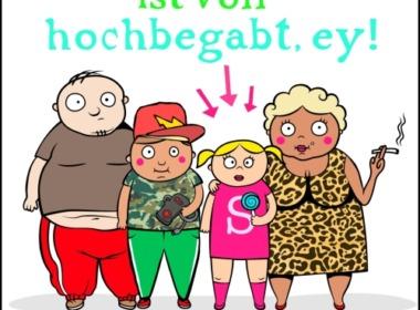 Sophie Seeberg - Die Schakkeline ist voll hochbegabt, ey! (Cover © Knaur)