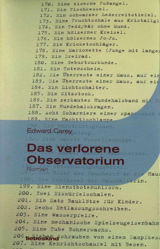 Edward Carey – Das verlorene Observatorium (Buch)