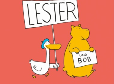 Ole Könnecke - Die Abenteuer von Lester und Bob (Buch) - Cover © Aladin Verlag/Carlsen