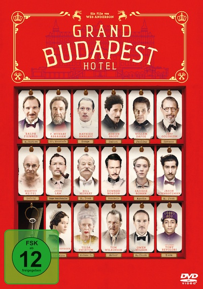 Grand Budapest Hotel (Film, DVD/Blu-Ray)