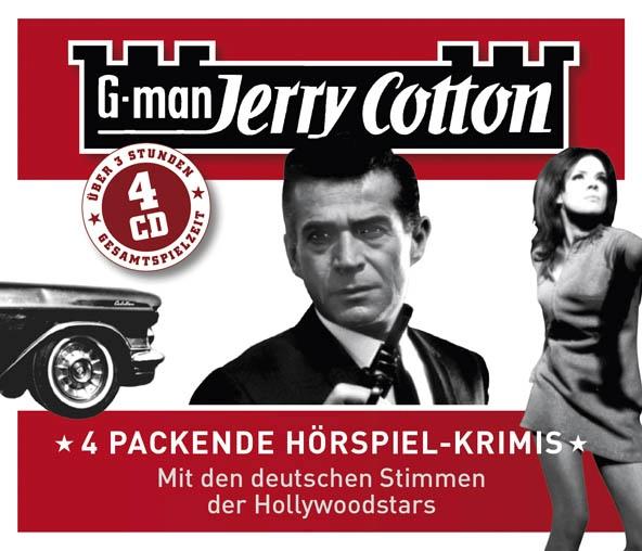 G-man Jerry Cotton – 4 packende Hörspiel-Krimis (Hörspiele, gesprochen von Manfred Lehmann, Joachim Kerzel und anderen)