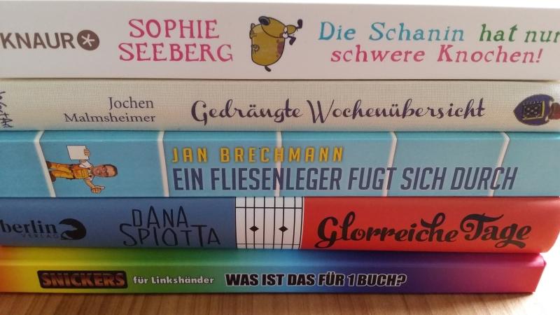 Bücherabbildung privat, Bücher © Knaur, WortArt, Knaus, berlin Verlag und Snickers für Linkshänder
