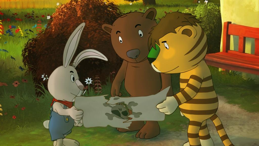 v. l. Jochen Gummibär, der kleine Bär und der kleine Tiger