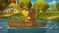 v. l. der kleine Tiger und der kleine Bär